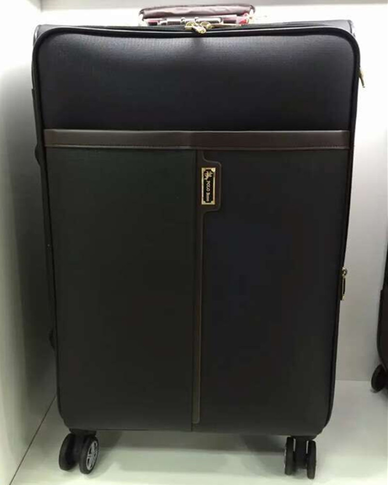 BOLO BRAVE High Quality PU Leather Retro Trolley Luggage Men Business Boarding Travel Suitcase Women Bags Wheels Brown maletas