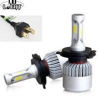 CO LIGHT 1 Pair Led H4 72W 9003 Ice Lamp 36W Fog Lights Light Bulbs for Auto Lada Niva Vaz 2115 2109 2104 Toyota Ford Honda