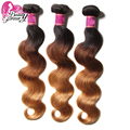 ombre brazilian hair aliexpress uk machine double weft 3pieces/lot wet and wavy virgin brazilian hair 8a unprocessed human hair