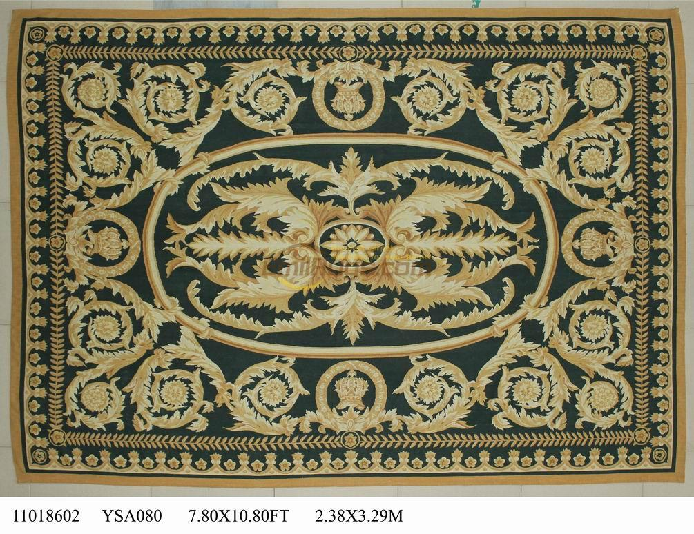 wool carpet french aubusson rugs 238cmx329cm 78u0027x 1108u0027 big area rug pink - Aubusson Rugs
