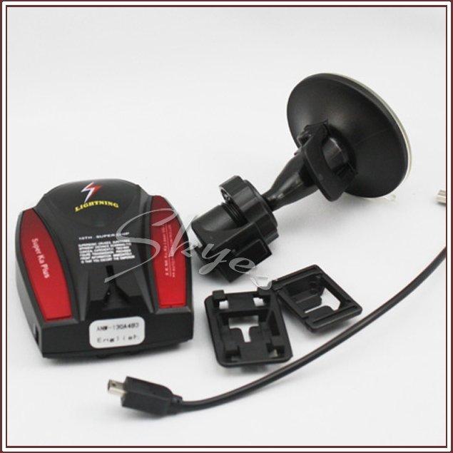 English Voice Warning Car Anti-Radar Detector X, K, Ka, New K,Ku band Car Radar Detector
