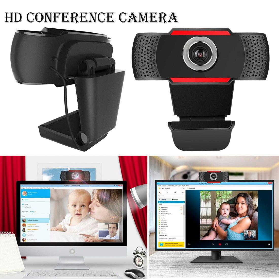 WEB USB Webcam de Alta Definição 480P Camera Web Cam 360 Graus MIC Clip-on para Skype Computador PC câmera portátil