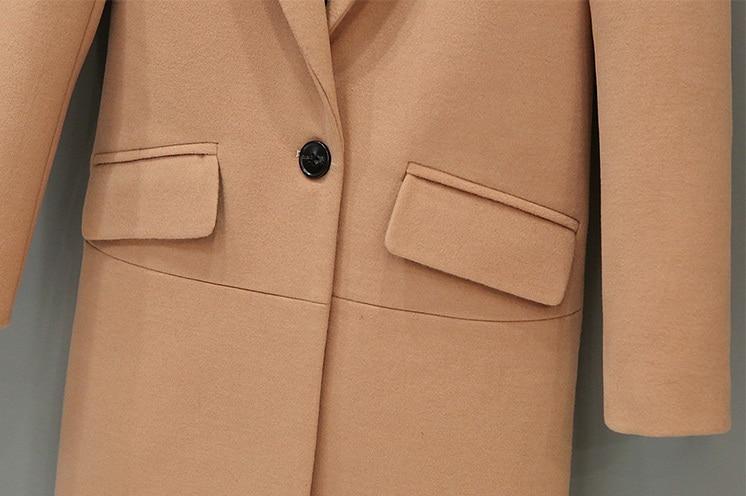 Uwback 2018 Wiosna Marka Trench Coat Kobiety Długi Prosto Płaszcz - Ubrania Damskie - Zdjęcie 3
