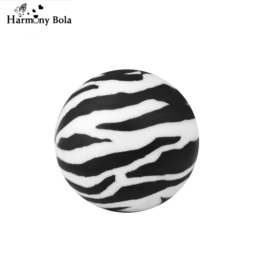 Classic Black White Zebra Color Baby Chime Ball 20mm Angel Caller Mexcian Bola Eudora Harmony Ball Pendant Jewerly 5pc Wholesale