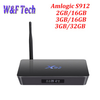 X92, 2 Гб оперативной памяти, 16 Гб встроенной памяти, Android 7,1 Смарт ТВ Box Amlogic S912 Octa Core Процессор 2,4G/5G Wi-Fi 4 K H.265 Miracast DLNA 1000 м 3g 32G Декодер каналов кабе...