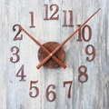 DIY Clock Saat Wall Clock Reloj Duvar saati digital wall clocks horloge murale Relogio de parede Klok Wall watch reverse pointer