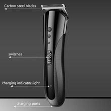 High Quality Kemei KM-1407 3 in 1 Hair Trimmer Rechargeable Hair Clipper Electric Shaver Beard Nose Trimmer Styling Tools Shavin kemei pro 2 in 1 rechargeable electric hair clipper trimmer nose ear trimmer ac110 240v hair cutting machine 4 combs km 2172