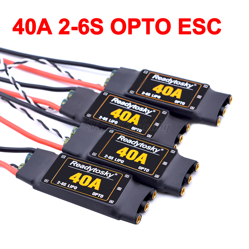 NEW 40A ESC OPTO 2-6S Brushless ESC Electronic Speed Controller For F450 X500 S500 ZD550 RC Helicopter Quadcopter