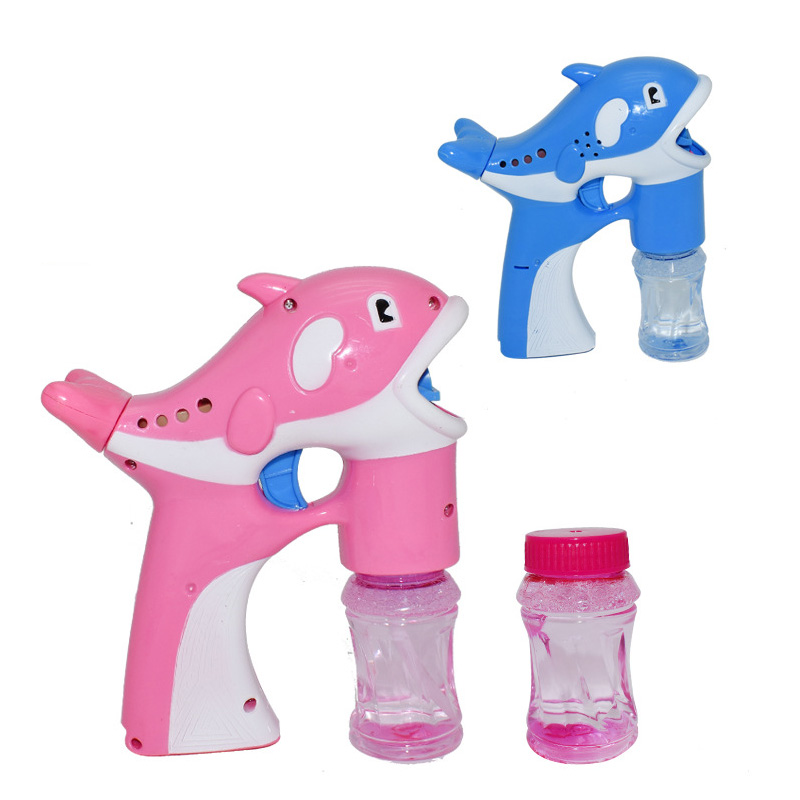 Automatic blowing bubble electric dolphin bubble gun children's gift