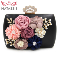 NATASSIE New Arrival Women Flower Clutch Bags Ladies Party Bags Female Wedding Clutch Purses