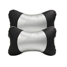 2 PCS Car Headrest PU Carbon Fiber Neck Rest Safety Seat Support Head Pillow Cushion Styling Accessory Auto