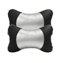 2 PCS Car Headrest PU Carbon Fiber Neck Rest Safety Seat Support Head Pillow Cushion Styling Accessory Auto Safety Pillow все цены