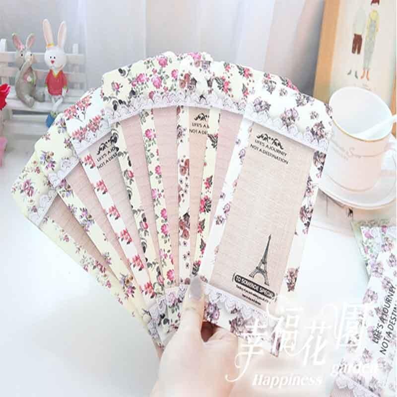 Beautiful Lace Flower Letter Paper 6pcs And Envelop 3pcs Sets School Students Love Letter Writing Big Size Envelop Paper Letter