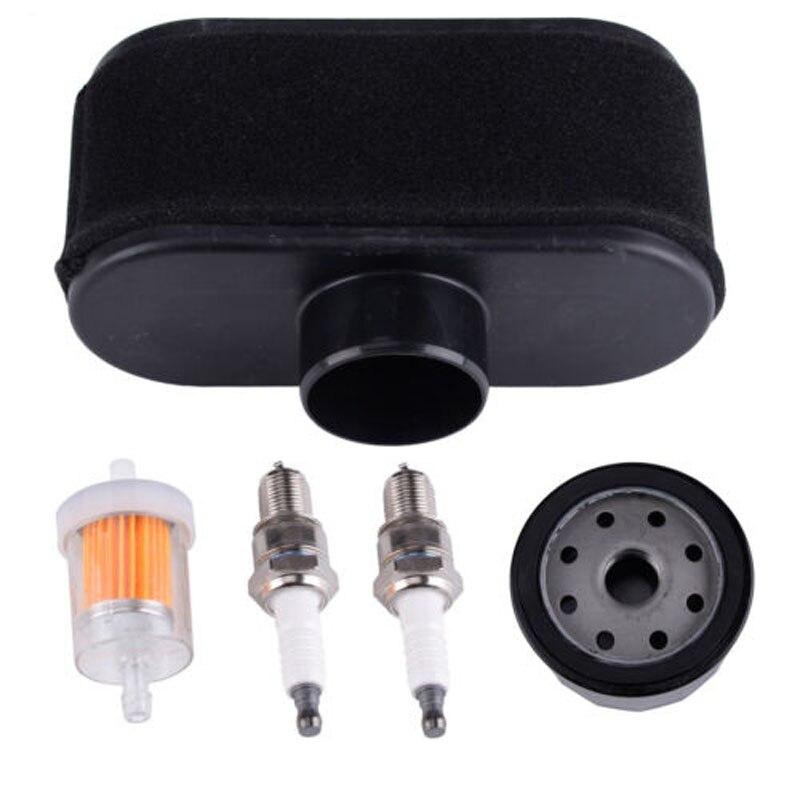 FS481V 22-26 HP Air Filter Kit Engine Spark Plugs Replacement Part Set For KAWASAKI FS600V FR651V FR691V FR730V