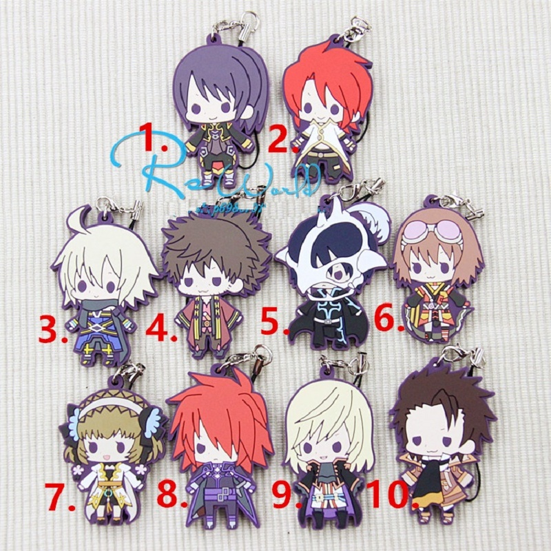 Tales of Friends Symphonia vol.3 Luke fone Fabre Lion Magnus Rubber Keychain stylish straight neat bang human hair bob women s wig