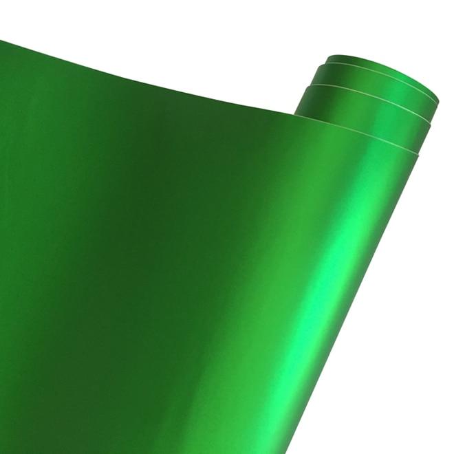 Матовый металлический хромированный виниловая пленка для автомобиля с воздушным пузырьком фиолетовая атласная металлическая наклейка из фольги для автомобиля обертывание ping покрытие - Название цвета: Apple Green