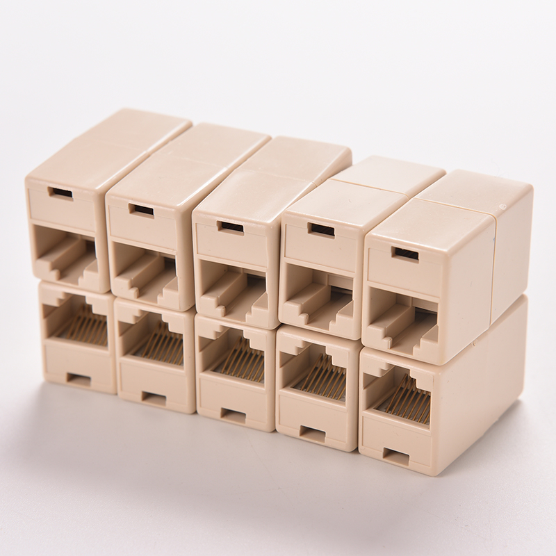 Universal RJ45 Cat5 8P8C Socket Connector Coupler For Extension Broadband Ethernet Network LAN Cable Joiner Extender Plug imc hot 10 pcs rj45 8p8c double ports female plug telephone connector
