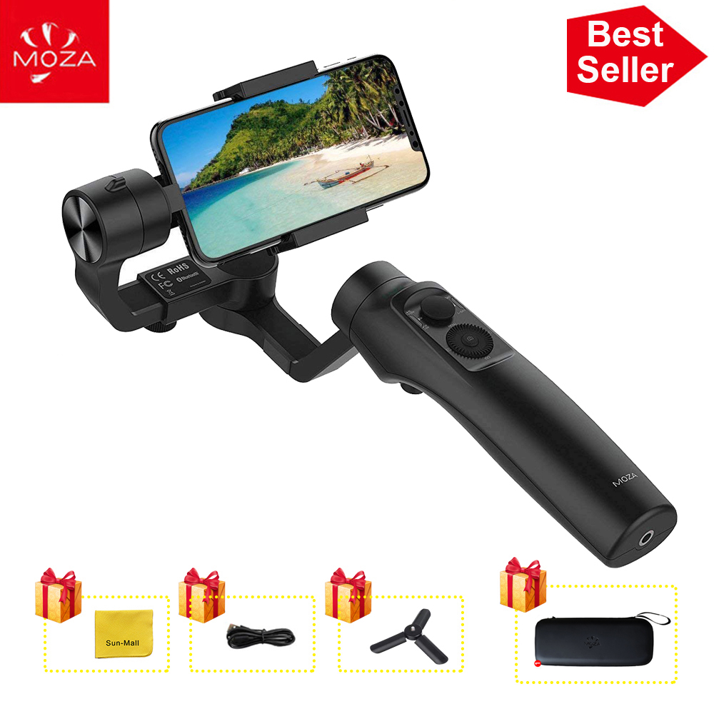 UK Stock MOZA MINI MI 3-Axis Handheld Gimbal Stabilizer for Smart phone iPhone X 8 Plus 8 Samsung S9 with Maximum Payload 300g