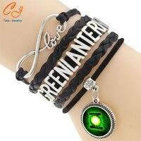 New 2015Jewelry Vintage Braided Green Lantern Leather Bracelet Multilayer Rope Bracelets Wholesale Bangle Bracelet