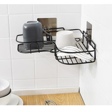 цена на Suction Cup Corner Shower Shelf Bathroom Shampoo Shower Shelf Holder Kitchen Storage Rack Organizer