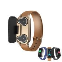 T89 Tws Smart Binaural Bluetooth 5.0 Earbuds Wristband With Rate Monitor Smart Band Sport Watch Life Waterproof TWS Earphone