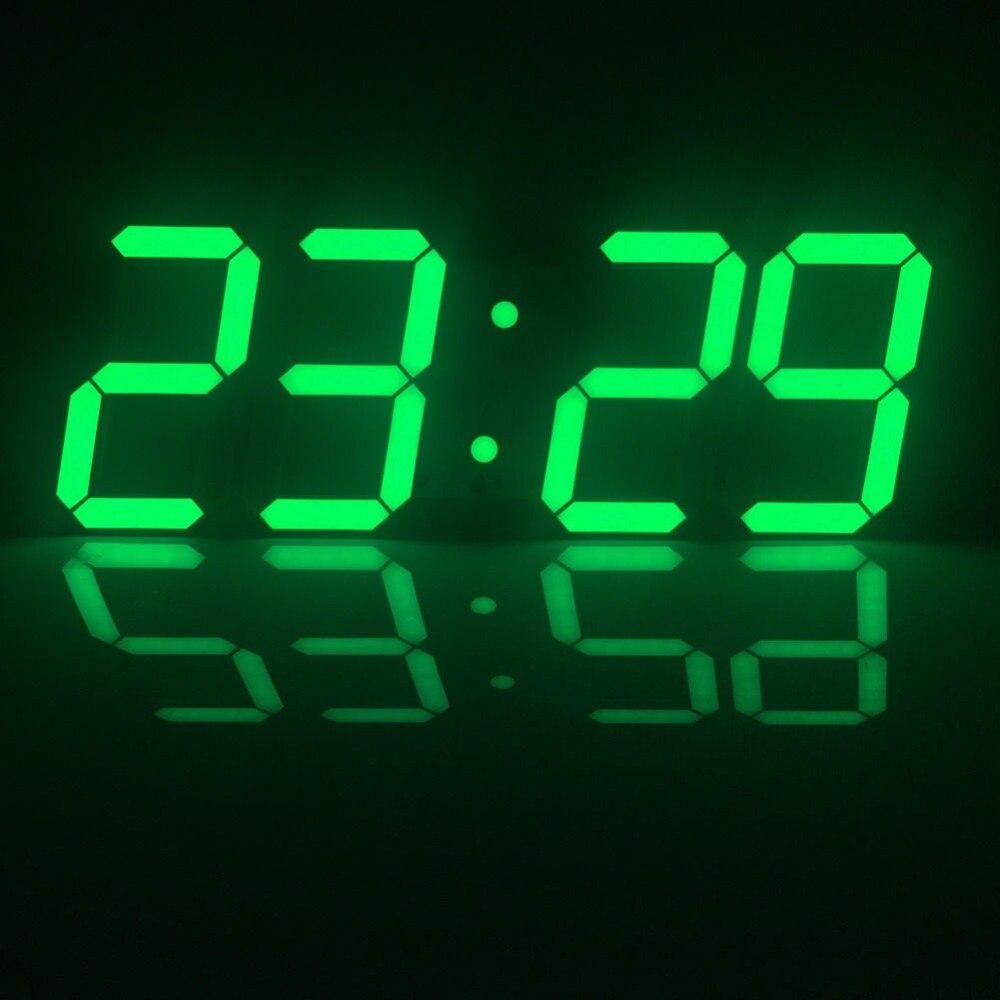 2017 led digital large wall clock alarms temperature date. Black Bedroom Furniture Sets. Home Design Ideas