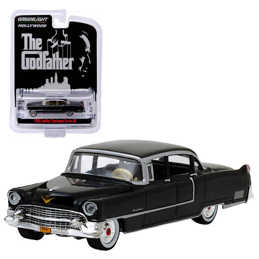 GL 1:64 The Godfather 1955 Cadi llac Fleetwood Series 60 alloy model Car Diecast Metal Toys Birthday Gift For Kids Boy