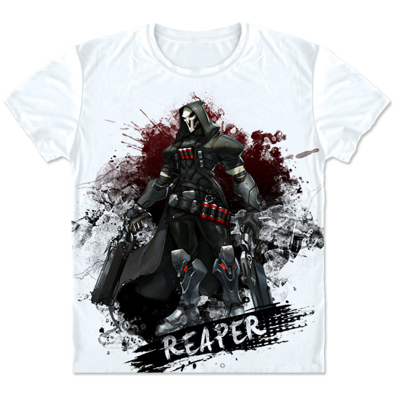 New Game OW Reaper t shirt Fashion Casual Game Cosplay Costumes Men/Women Summer Hip Hop Short T shirt Clothings Plus Size