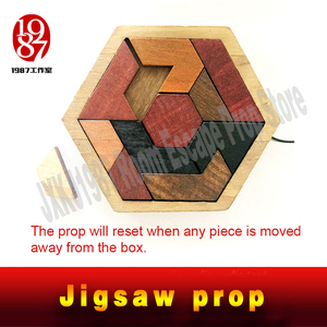 Image 4 - JXKJ1987 Escape room prop Tangram Prop real life room escape game finish jigsaw puzzles to unlock secret chamber room
