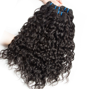Image 4 - Alibele Hair Malaysian Water Wave Bundles with Closure 100 Remy Human Hair Bundles With Closure Remy Hair 3 Bundles With Closure