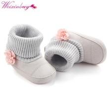 Winter Warm Baby Sko Efterår Crib Pram First Walkers Børn Nyfødt Spædbarn Toddler Super Keep Warm Flower Boots Glirs Sko