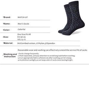 Image 3 - Chaussettes assorties en coton pour hommes, de couleur, pour robe daffaires, décontracté, longues, amusantes (5 pièces/lot)