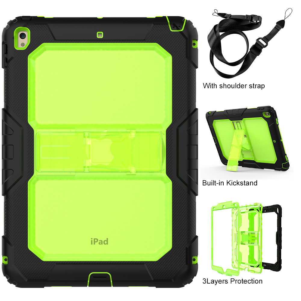 Heavy Duty Shockproof Hybrid Armor Impact Resistant Full-Body PC Rugged Protective Case Cover for iPad Pro 10.5 Inch Tablet for ipad pro 12 9 heavy duty shockproof hybrid rubber rugged hard impact protective case cover