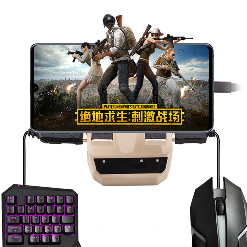 Bluetooth Keyboard Mouse Converter for iphone iOS / Android Mobile Phone PUBG Game Holder No Need Download Any App Converter image