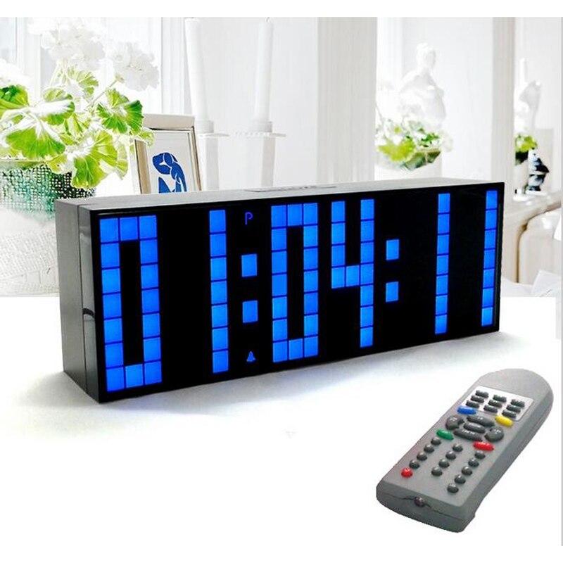 Digitale Große Big Jumbo LED Wecker Fernbedienung Countdown Timer countdown up stoppuhr-in Wanduhren aus Heim und Garten bei  Gruppe 1