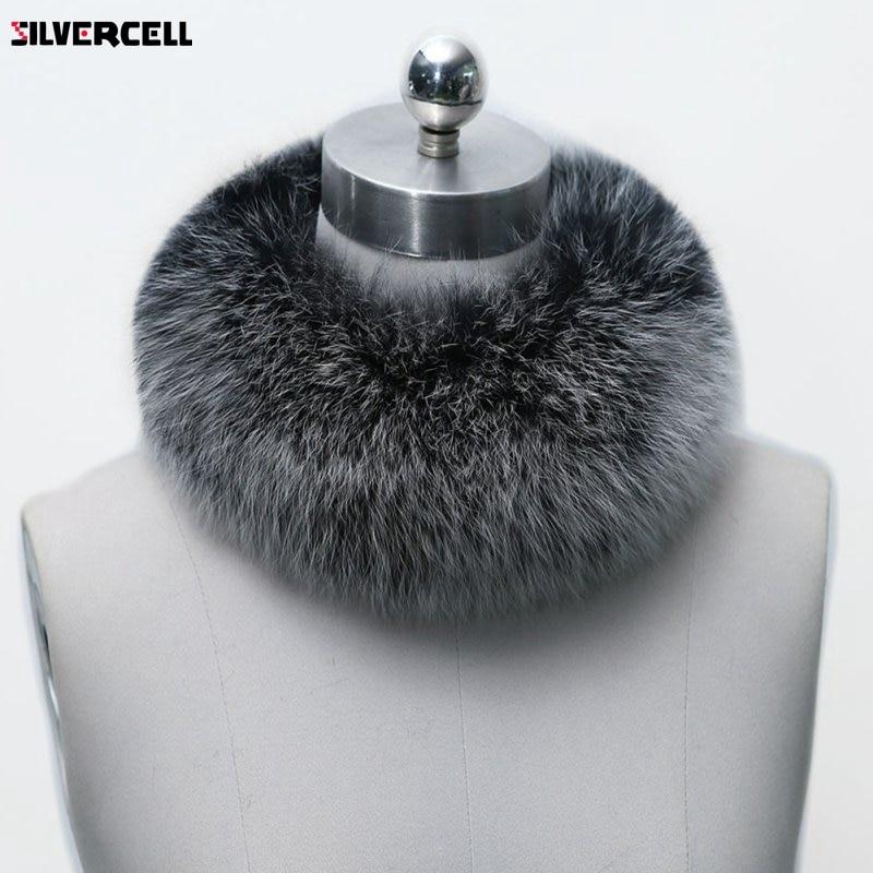 Winter Warm Women Fashion Faux Fox Fur Collar Scarf Shawl Stole Furry Neck Wrap Circles 10 Colors