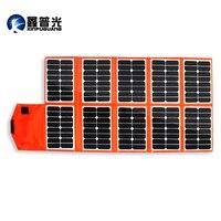 Xinpuguang В 150 Вт 16 в солнечное зарядное устройство 10 складок оранжевый PV модуль портативная солнечная панель В 12 В батарея USB DC Выход телефон Pad К