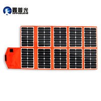 Xinpuguang 150W 16V solar charger 10 Folds orange PV module Portable Solar Panel Battery USB DC output Phone Pad computer