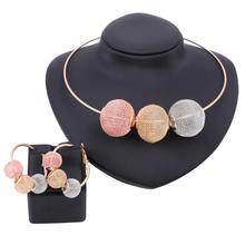 Модные африканские бусы колье ожерелье серьги цветной Дубай