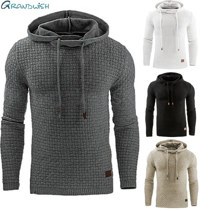 Grandwish Drop Shipping Hoodies Men Long Sleeve Solid Color Hooded Sweatshirt Male Hoodie Casual Sportswear Plus Size S-5X,DA760