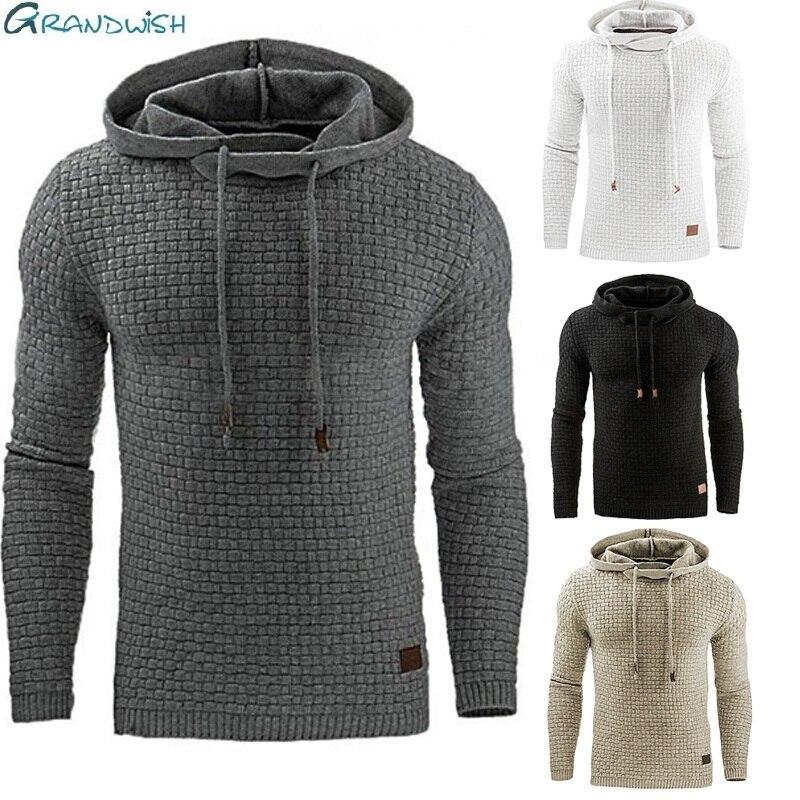 Grandwish Drop Shipping Hoodies Men Long Sleeve Solid Color Hooded Sweatshirt Male Hoodie Casual Sportswear Plus Size S-5x,da760