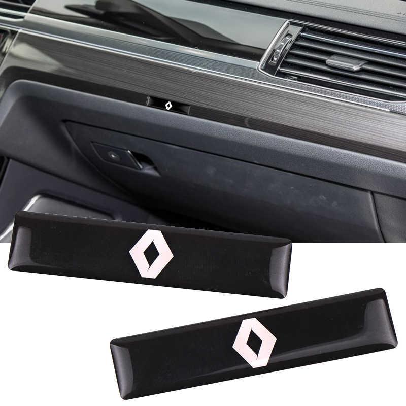2 pièces Voiture style 3D Décoratif Autocollant D'insigne Pour Renault 2 Bouton Clio Mégane Scénic Duster Sandero Captur Twingo Accessoires
