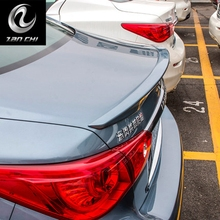 Car Styling Exterior ABS Plastic Unpainted Primer Rear Roof Wing Spoiler Cover Fit For Infiniti Q50 Q50L Spoiler 2014 2015 2016