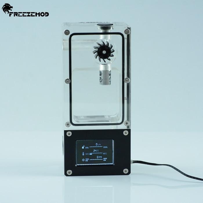 FREEZEMOD Computer Water Cooler Intelligent Water Tank Hall Flow Speed RGB Control Porous Position Installation. BOX-ZNSX