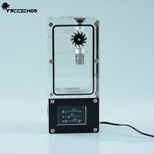 FREEZEMOD компьютер кулер для воды интеллектуальный бак для воды зал скорость потока RGB контроль пористого положения установки. BOX-ZNSX
