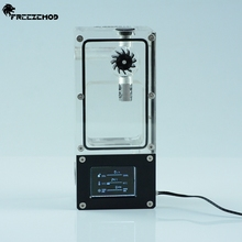 FREEZEMOD コンピュータ水クーラーインテリジェント水タンクホール流量速度 RGB 制御多孔位置設置。 BOX ZNSX