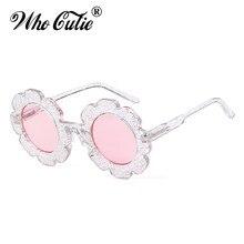 Que lindo redondo flor niños gafas de sol de diseñador de la marca niña niño  gafas lindo bebé gafas de sol UV400 lente tonos niñ. eacd56d0b4