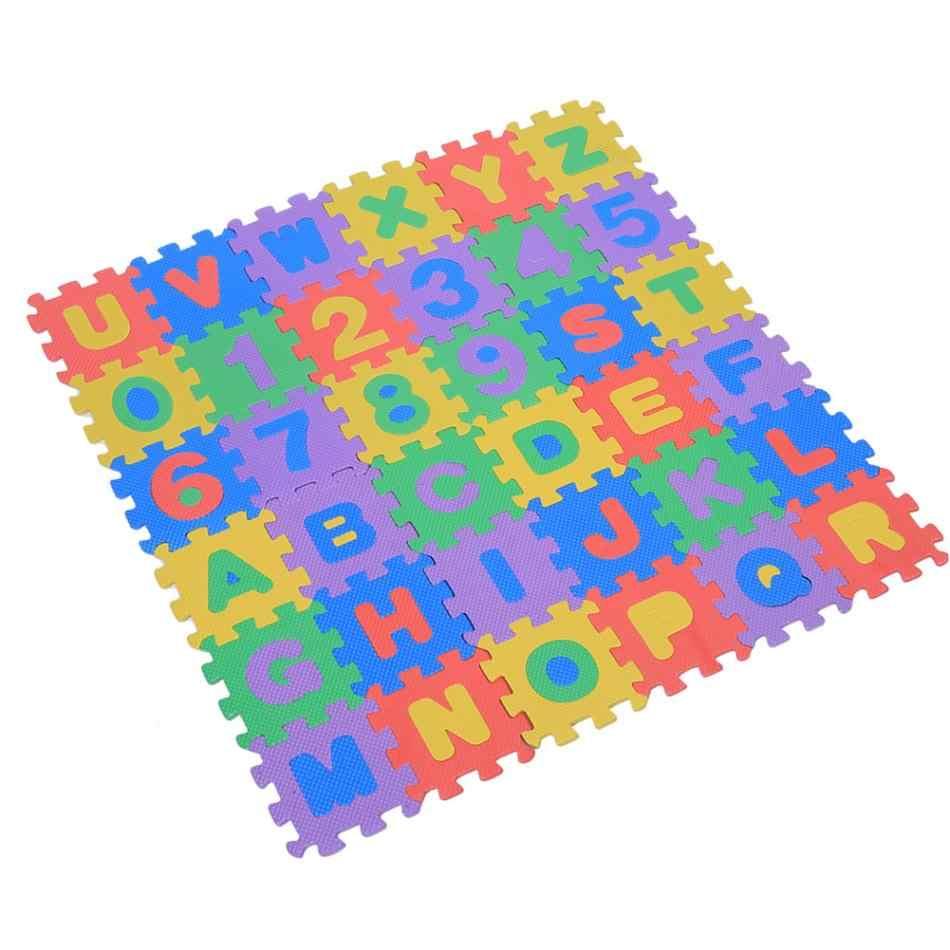 36 шт./компл. мягкий эва пена алфавит, буквы, цифры пол головоломка ковер пол игры коврик Детские игры детские развивающие игрушки