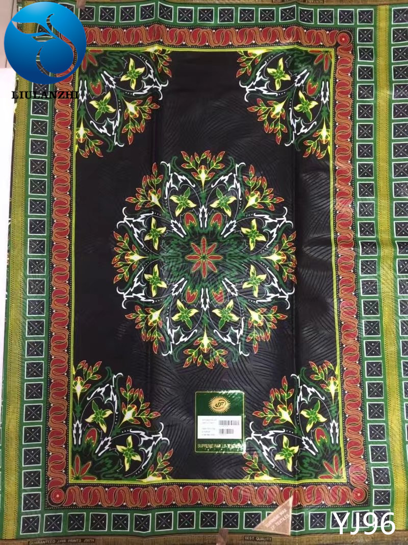 LIULANZHI Wholesale african real wax fabric Tradition design Java african wax cotton fabric pints wax fabric 6yards YJ84-YJ105