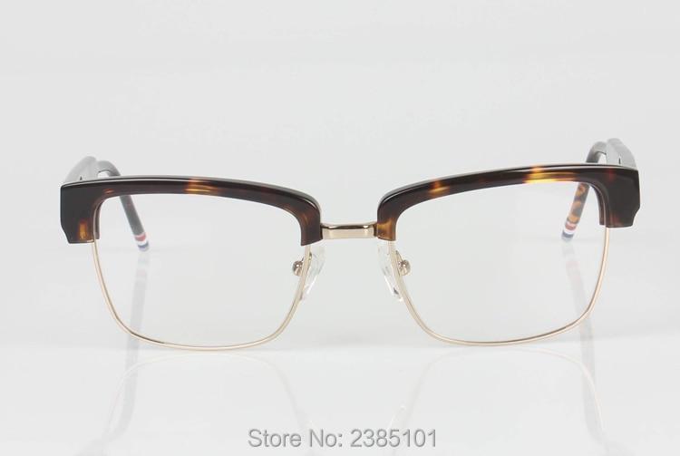 fea251ac60c Half frame eyeglasses frames men square optical gold black eye ...